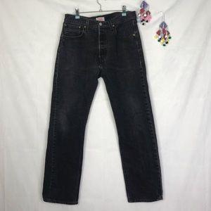 Levi's 501 original fit button fly straight leg jeans